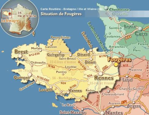 Situation de Fougères